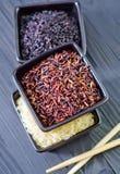Ruwe rijst Royalty-vrije Stock Foto