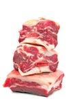 Ruwe rundvleesribben Stock Foto