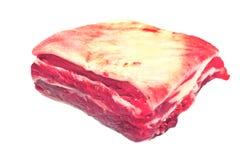 Ruwe rundvleesribben Stock Afbeeldingen