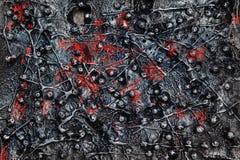 Ruwe staalachtergrond Royalty-vrije Stock Afbeeldingen