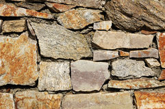 Ruwe steenmuur Royalty-vrije Stock Afbeelding