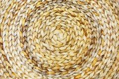 Ruwe textuur van geweven bamboedoek royalty-vrije stock afbeelding