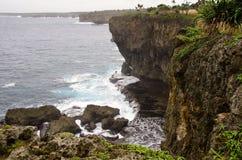 Ruwe Tongaanse Kustlijn Royalty-vrije Stock Foto