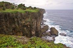 Ruwe Tongaanse Kustlijn stock afbeeldingen