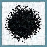 Ruwe uitgebroede schets van een zwart gat in wit Royalty-vrije Stock Afbeelding