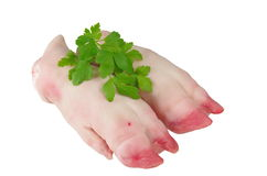 Ruwe varkensvleesbenen Stock Fotografie
