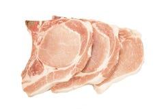 Ruwe varkensvleeslapjes vlees royalty-vrije stock foto