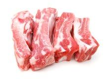 Ruwe varkensvleesribben Stock Foto