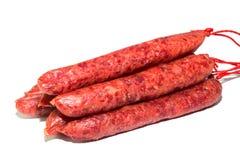Ruwe vleesworsten Stock Afbeelding