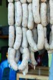 Ruwe witte Thaise worsten Royalty-vrije Stock Foto