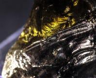 Ruwe zwarte obsidian Royalty-vrije Stock Foto's