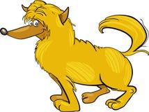 Ruwharige gele hond Stock Foto's