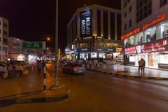 Ruwi, het commerciële district van Muscateldruif, Oman Stock Afbeelding