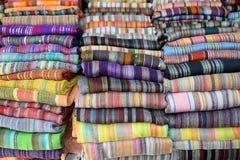 Ruwweg geweven Marokkaanse kaap Royalty-vrije Stock Fotografie
