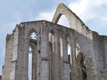 Ruyins in Visby in Sweden. Ruin of the saint Catherine church in Visby on the island Gotland in Sweden Stock Photography