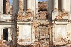 Ruzhany宫殿废墟 库存照片