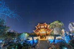 Ruzi-Pavillon-Parknacht Stockfotografie