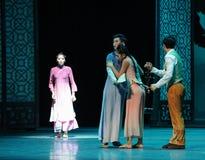 Ruzie tussen de broer-tweede handeling van de gebeurtenissen van dans drama-Shawan van het verleden Stock Afbeeldingen