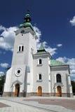 镇的Ruzomberok,斯洛伐克天主教堂 免版税库存图片