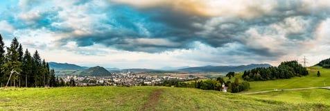Ruzomberok city panorama. Ruzomberok is a town in northern Slovakia, in the historical Liptov region stock photography