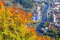 Ruzomberok from hill Cebrat, Slovakia Royalty Free Stock Image