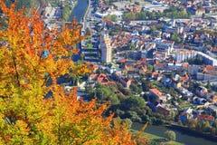 Ruzomberok from hill Cebrat, Slovakia Stock Image