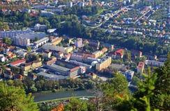 Ruzomberok from hill Cebrat, Slovakia Stock Photography