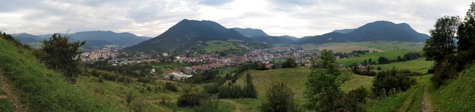 Ruzomberok from Mnich hill in Slovakia Stock Photo