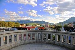 Ruzomberok old town on sunset, Liptov. Slovakia stock image