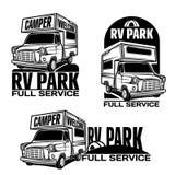 Rv汽车游乐车露营者货车有蓬卡车 库存照片