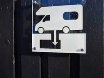RV露营车住房汽车污水转储驻地 免版税图库摄影