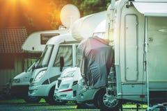 RV露营车存贮地方 免版税库存图片