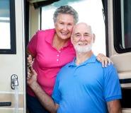 Rv-Älter-Paare Stockfoto