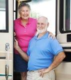 Rv-Ältere in der Tür Lizenzfreies Stockfoto