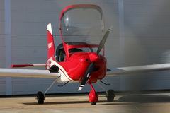 RV - 12 Aircraft. It's a two-seat all-metal side-by-side airplane with a large cabin that seats the occupants ahead of the wing spar for maximum room and superb Stock Photos