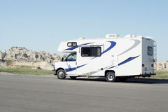 RV in Badlands National Park Stock Images