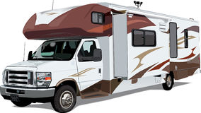 RV C-Class Camper Trailer Stock Images