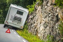 Rv-campare Van Accident royaltyfria bilder