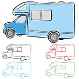 RV Camper. An image of an rv camper drawing Royalty Free Stock Photography