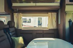 RV Camper Dinette Area Royalty Free Stock Images