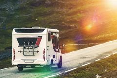 RV Camper Traveling Stock Images