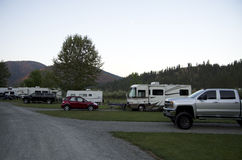 RV campground Stock Photos