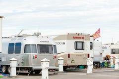 RV camping Royalty Free Stock Photo