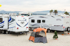 RV camping Stock Photos