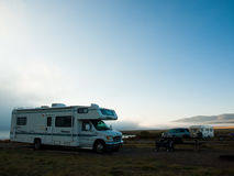RV Camping Stock Image