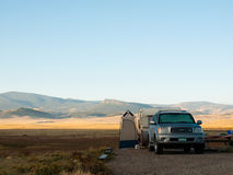 RV Camping Royalty Free Stock Image