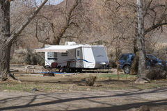 RV camping Royalty Free Stock Image
