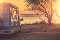 Free RV Camping With Sea Vista Stock Images - 165573074