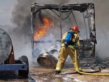 RV Fire 2 Royalty Free Stock Images