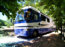 RV Fun. Summer Rv trips with a Holiday Rambler Royalty Free Stock Photos